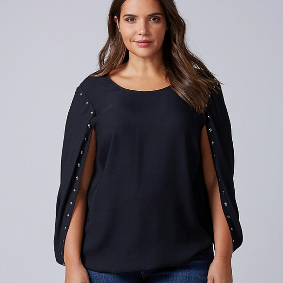 783cd0ae2ebdcd Lane Bryant Tops | Nwt Cape Top Shirt 2628 | Poshmark